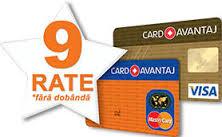 Card avantaj-6 rate fara dobanda